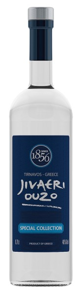 Ouzo Jivaeri 40 % Special Collection dreifach destilliert